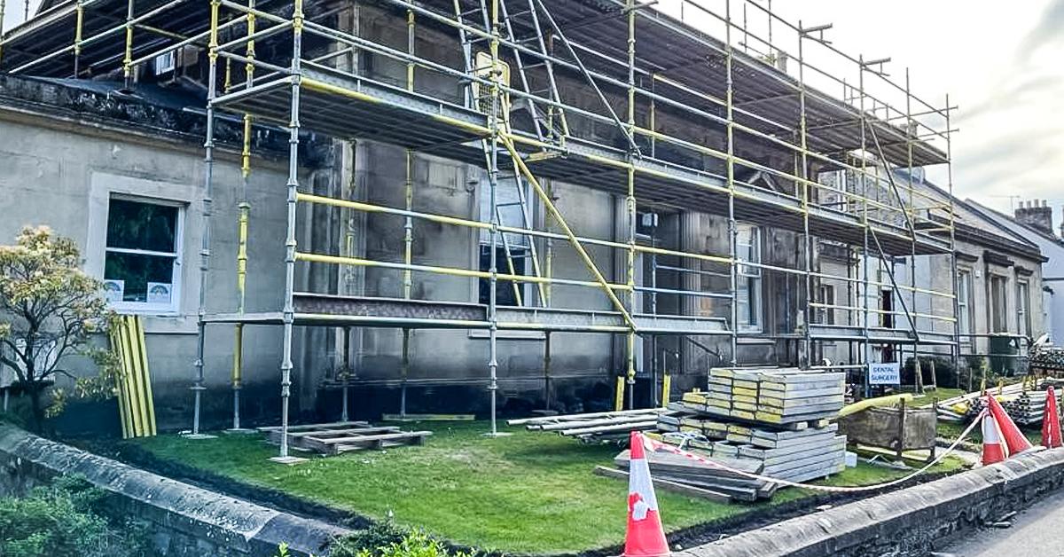 stirling dentist building renovation